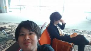 チャンギ国際空港にて