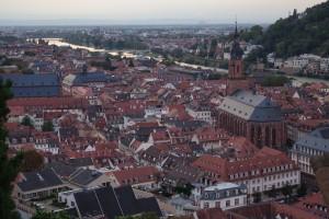 ハイデルベルク城から見渡せる景色