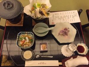初日の豪華な夕食
