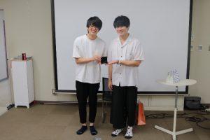 Ryu-kaさん賞を受賞した河村くん