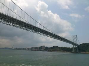 福岡から見た関門海峡