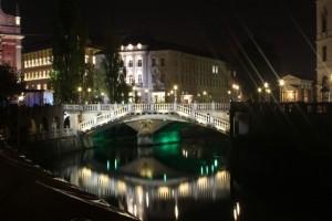 リュブリャナの夜景